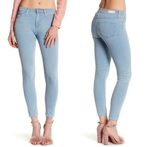 • AG • Farrah High Rise Crop Jean 16 Year Scuba